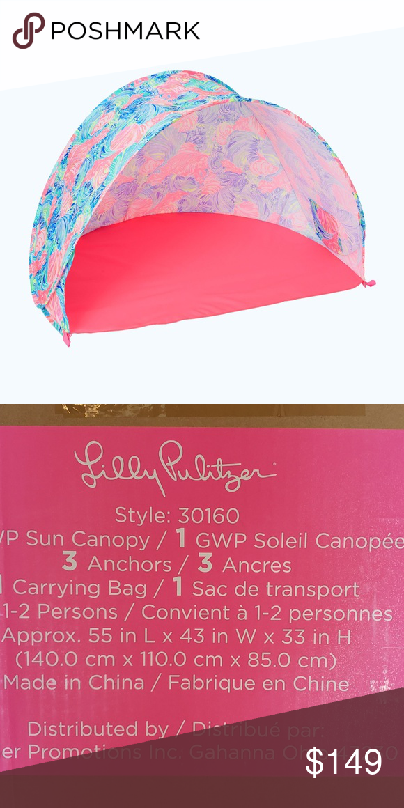 5c6628243a021d NEW Lilly Pulitzer GWP Sun Canopy in Beach Please I opened the canopy to  see how