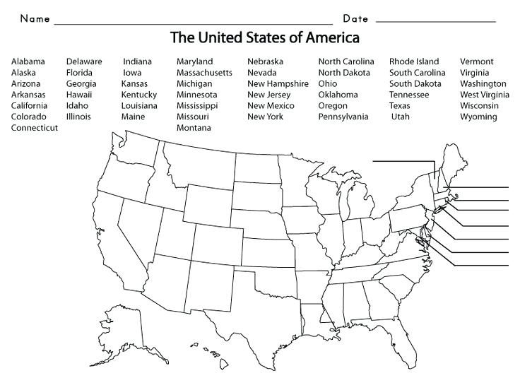 This map quiz game is here to help. Printable United States Maps Blank Us Map Us State Map Quiz Intended Pertaining To United States Map Quiz Fi Map Worksheets 5th Grade Worksheets Grade Spelling