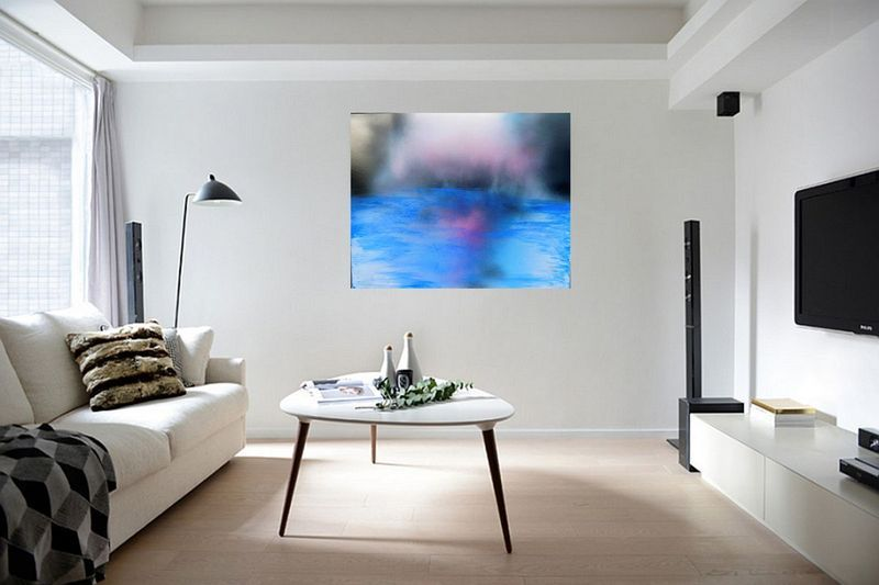 """""""I can't stop thinking about you 75 x 60cms"""" by Susan Wooler. Acrylic painting on Canvas, Subject: Abstract and non-figurative, Abstract style, One of a kind artwork, Signed certificate of authenticity, This artwork is sold unframed, Size: 75 x 60 x 2 cm (unframed), 29.53 x 23.62 x 0.79 in (unframed), Materials: Professional Acrylic Paint, Gesso, Linen Canvas, Varnish"""