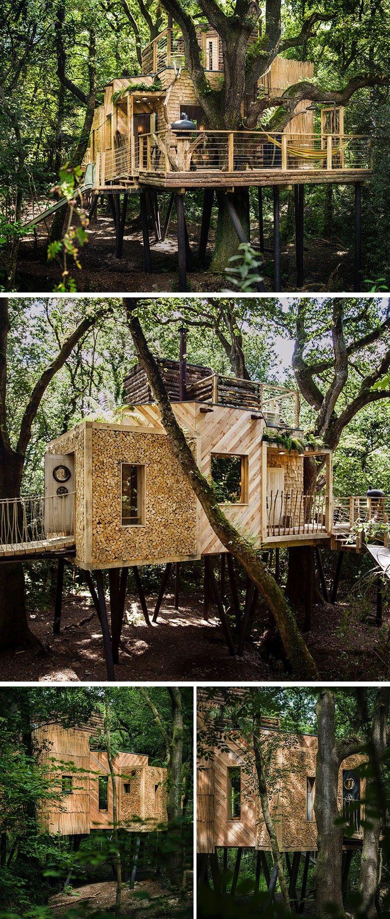 dieses erstaunliche baumhaus hotel wurde entworfen f r erwachsene auf urlaub baumhaus. Black Bedroom Furniture Sets. Home Design Ideas