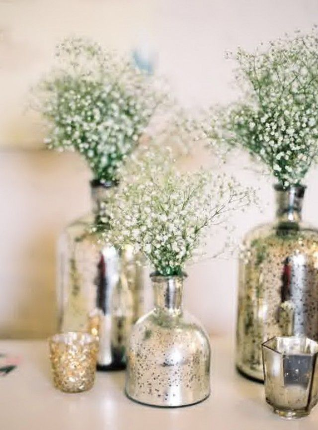 Pin by Myranda Chapel on Wedding Decor | Pinterest | Mercury glass ...