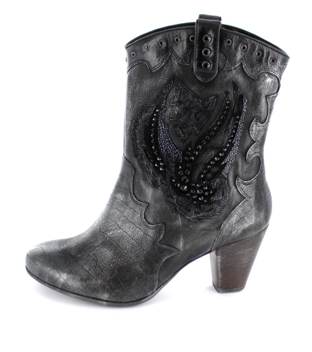 Högl - Aufwendig verzierte Damen Cowboy Stiefeletten