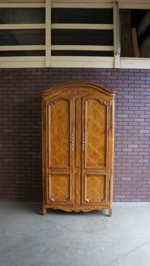 Armoire / Wardrobe / Door Chest / Dresser / French Provincial Armoire /  Cabernet Collection By Drexel Heritage
