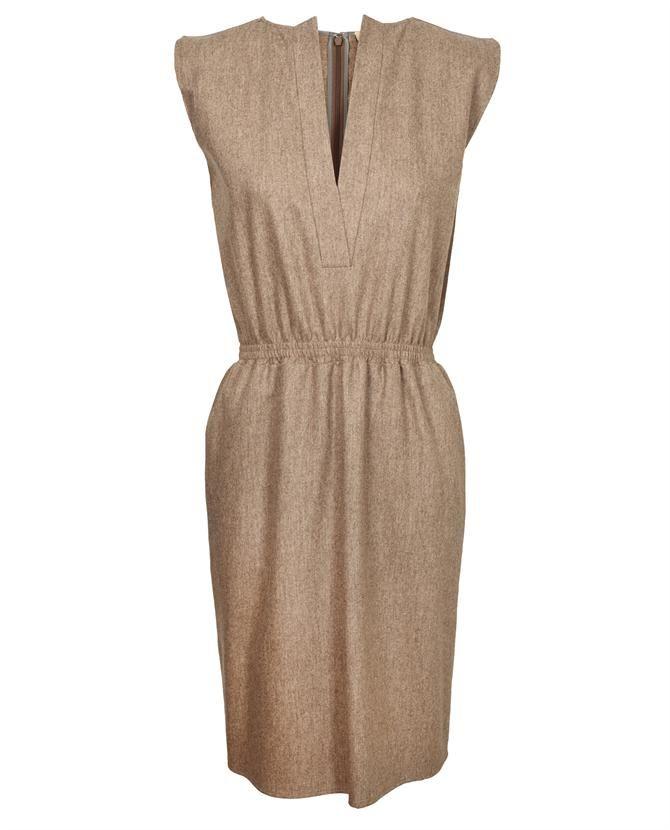 Virgin Wool Flannel Dress by BALENCIAGA at Browns Fashion for £585.00£350.00