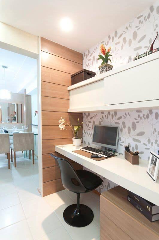 Como decorar o escrit rio sem gastar muito projeto de for Mini casa minimalista