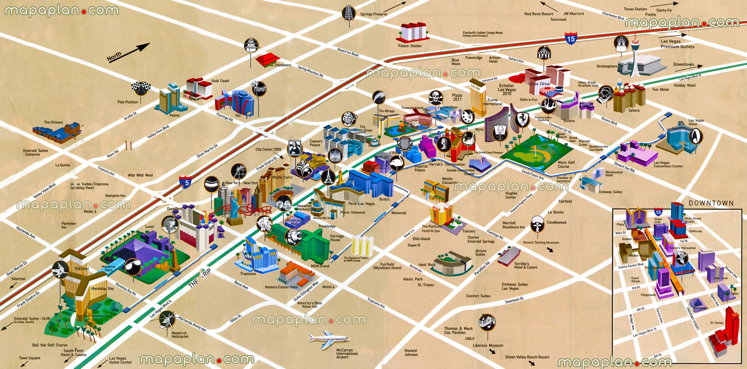 Strip Blvd Hotels Birds Eye D Buildings Aerial Satellite Virtual - Las vegas map of hotels