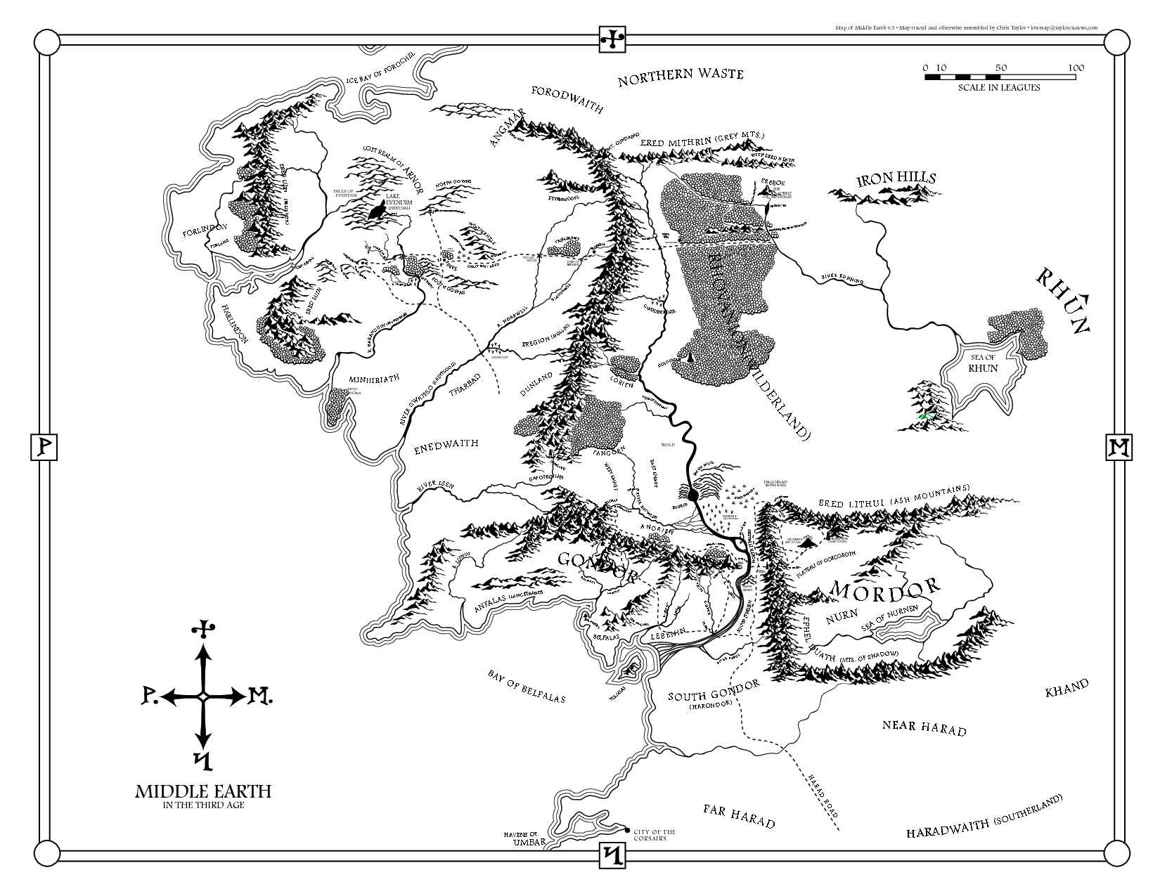 Middle Earth Map Printable Afp Cv