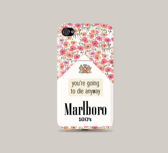 Floral Cigarette pack Plastic Hard Case  iphone 5 by CatCheeseCase, $16.99