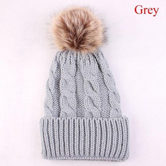 Fashion Women Autumn Winter Warm Hat Knitting Wool Cap Soft Crochet ...