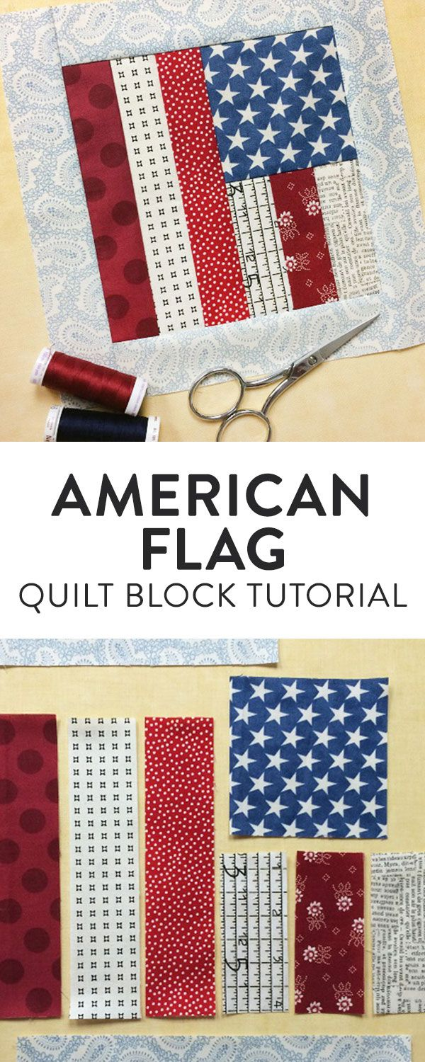 Flag Quilt Block Tutorial: FREE on Craftsy | Quilts | Pinterest ...