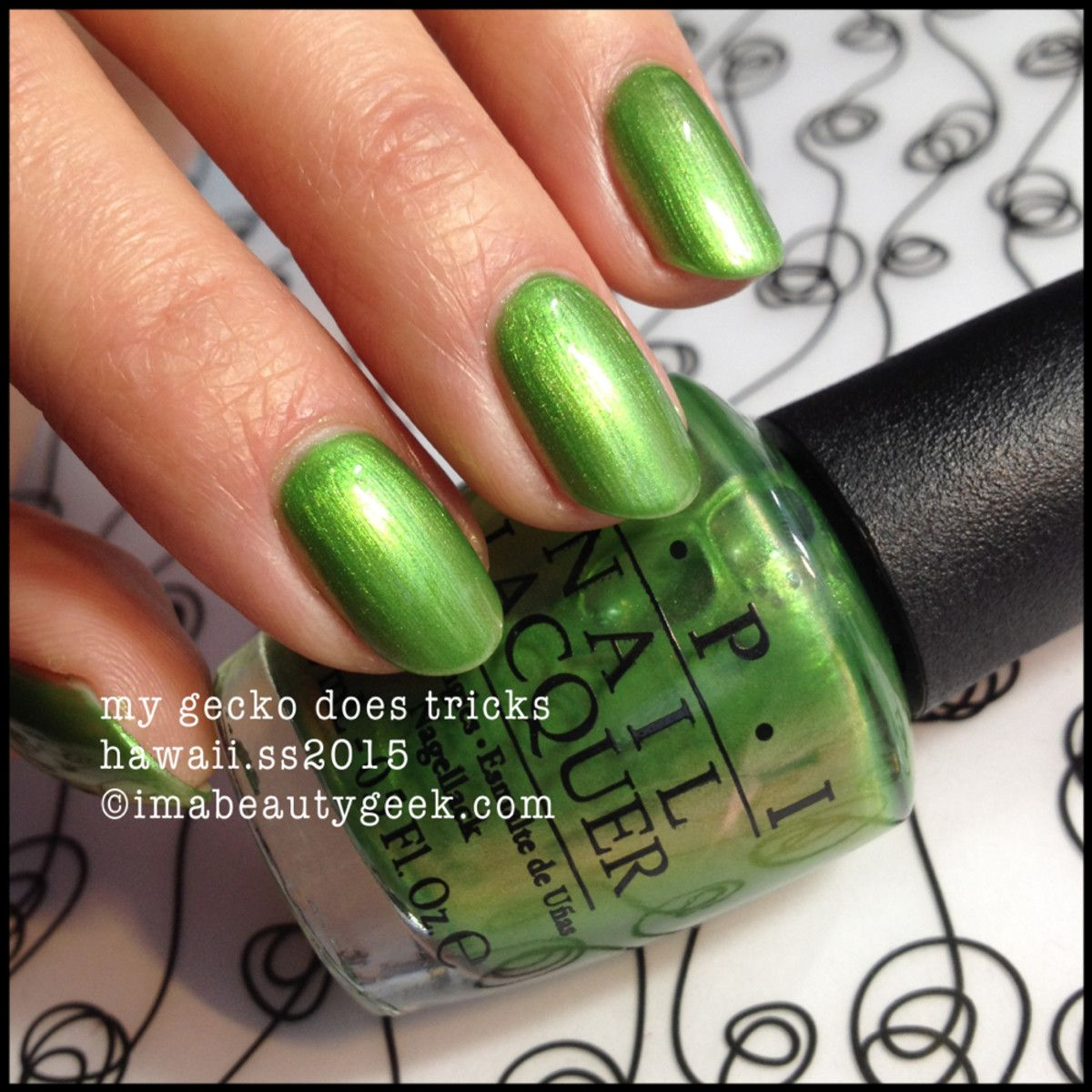 opi hawaii my gecko does tricks | nails | Pinterest | OPI and Swatch