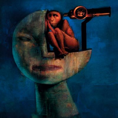 The vibrant colors are gorgeous, and the style is unique and surreal. Dave McKean often combines illustration with photography.
