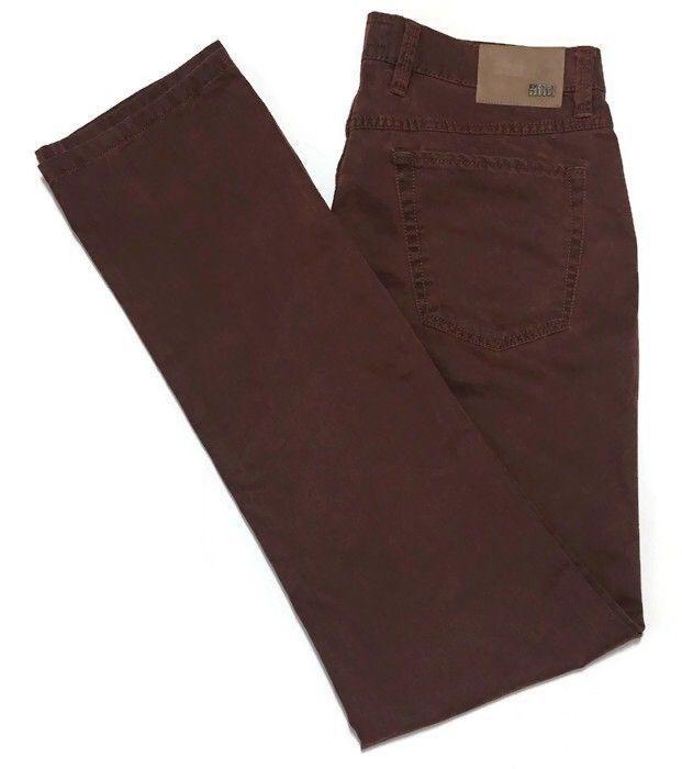 aac69800149 Hiltl Seth Perfetto Pants Tailored Fit 36 x 34 Stretch Rust Brown 41380 Men  | eBay
