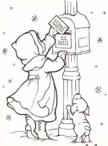 12 Cute Santa Clipart Retro Style Santa Coloring Pages Merry