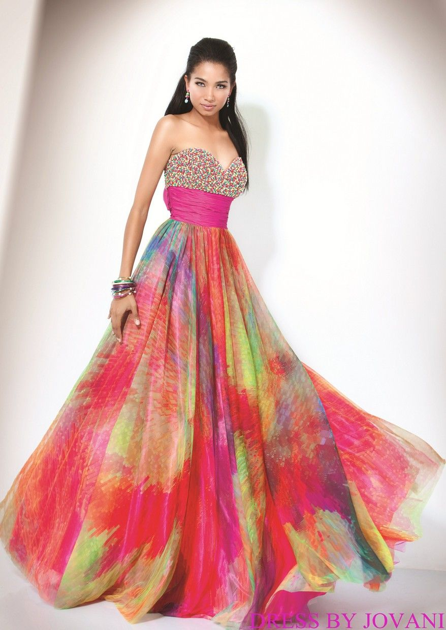 Beautiful Of Rainbow Wedding Dress