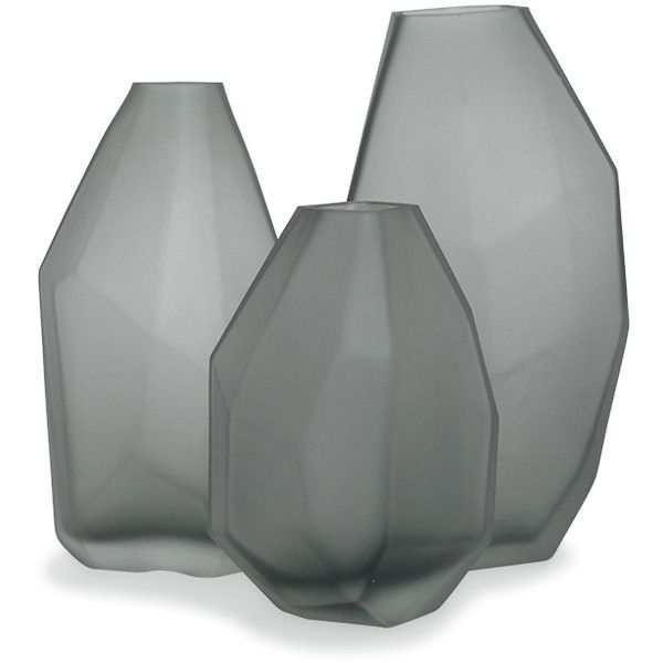 Mitchell Gold Bob Williams Faceted Gray Large Vase 825 Nok