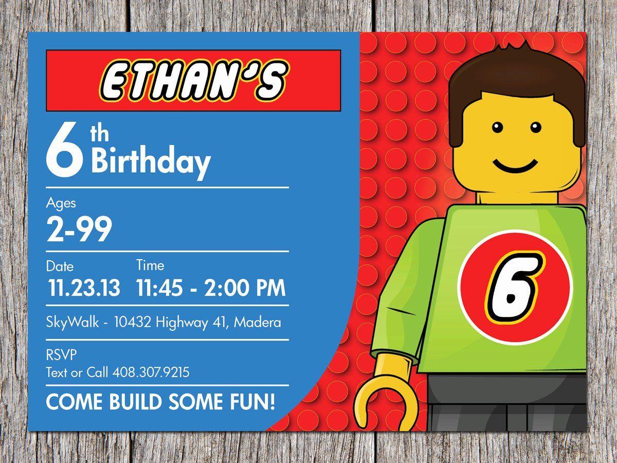 Lego Birthday Card Printable Elegant Free Printable Lego Birthday