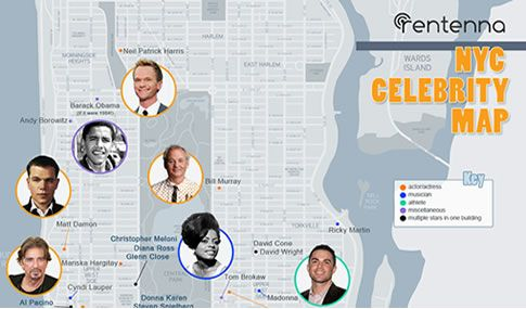 Infographic A Handy Map Showing Where Celebrities Live In New York