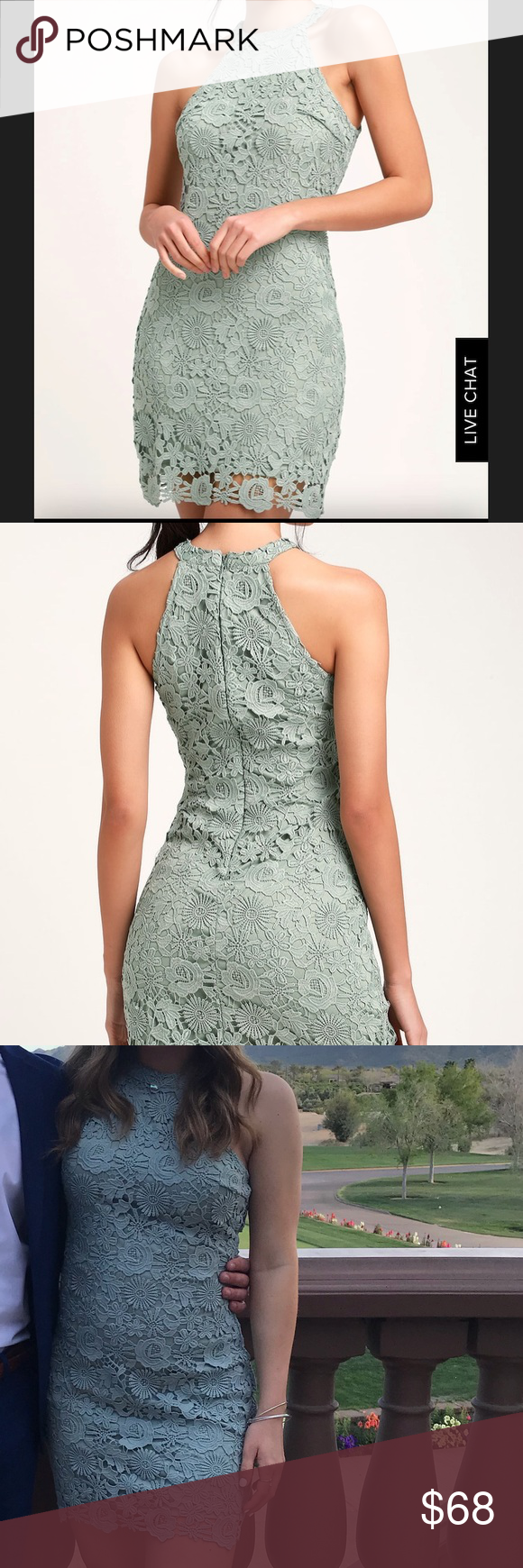 Lulu's Sage Green Dress Sage green dress from Lulus. Size medium. Only worn once to go to a wedding. Perfect condition Lulu's Dresses #sagegreendress
