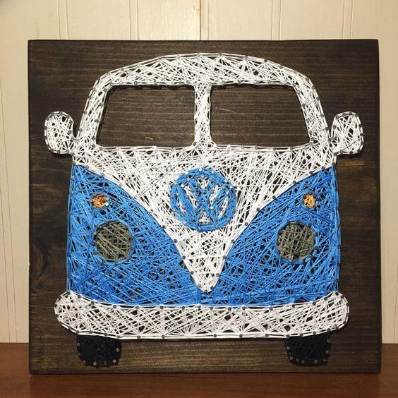 VW Bus String Art by StringsbySamantha: