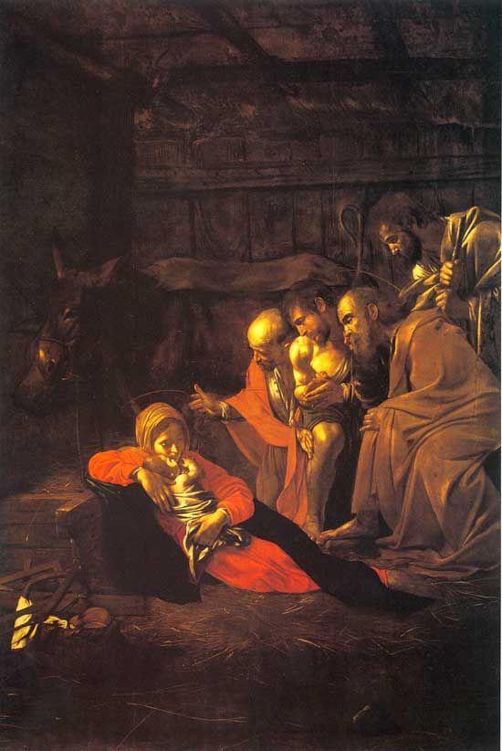 Caravaggio: La adoración de los pastores.