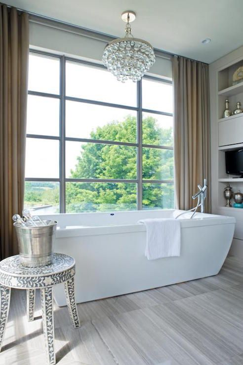 Chandelier Over Bathtub, Contemporary, Bathroom, Kimberley Seldon ...
