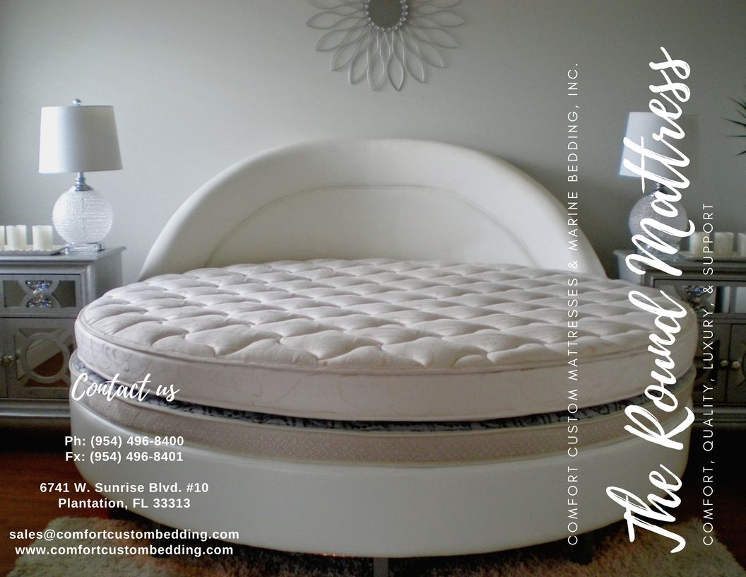 we provide custom made round mattresses round bases and curved
