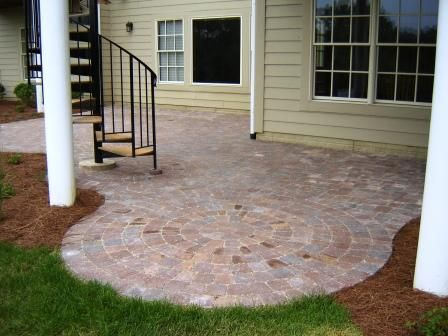 cobblestone concrete patio paver mold the forest pinterest