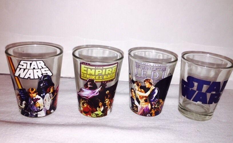 Shot Glassess Star Wars Set Of 4 Party Shots Fun Novelty Drinking