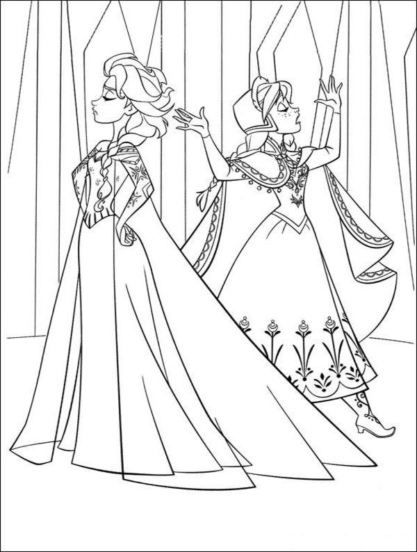 disney frozen coloring sheets: Anna & Elsa in \'First Time in Forever ...