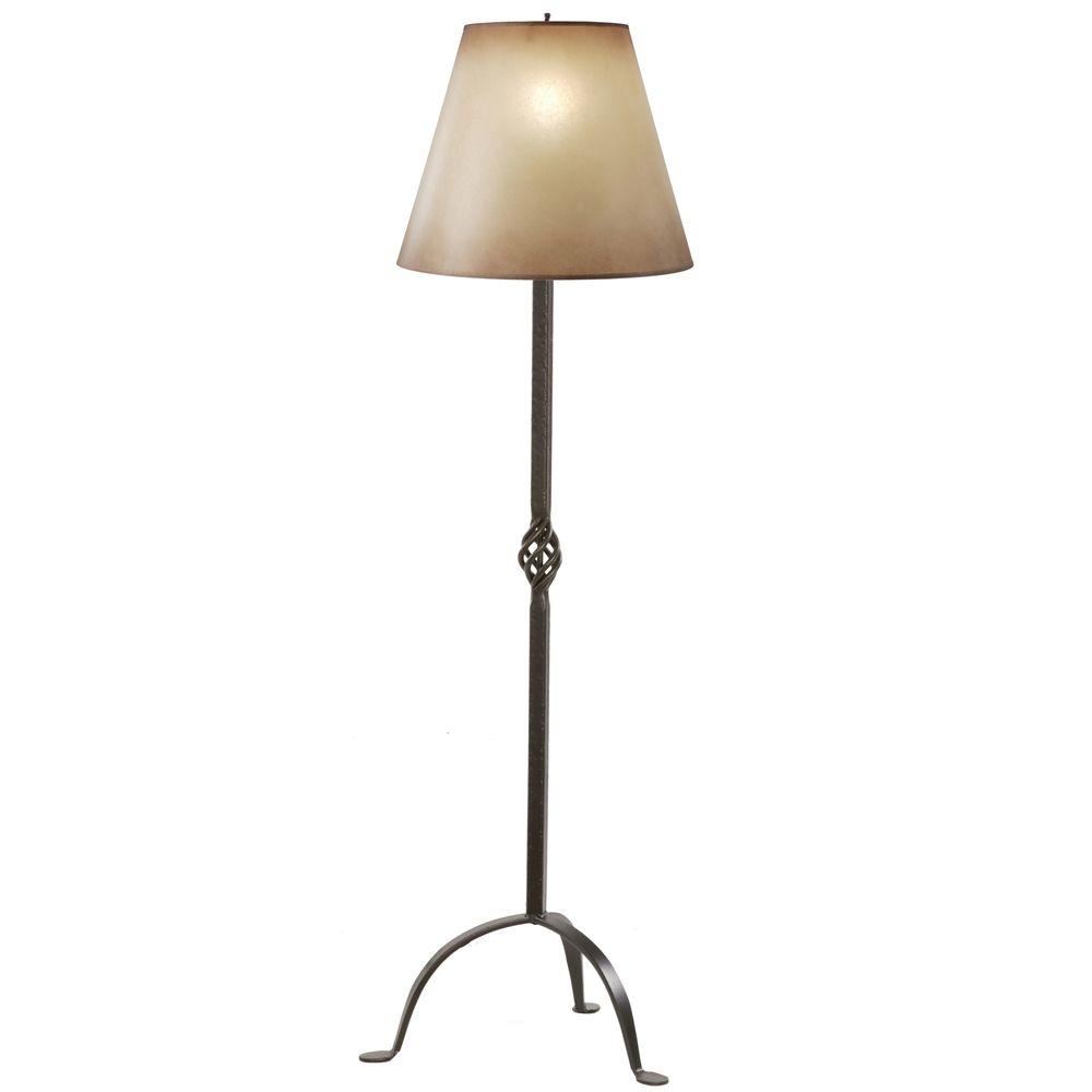 Wrought Iron Basketweave Floor Lamp Lamp Floor Lamp Wrought Iron