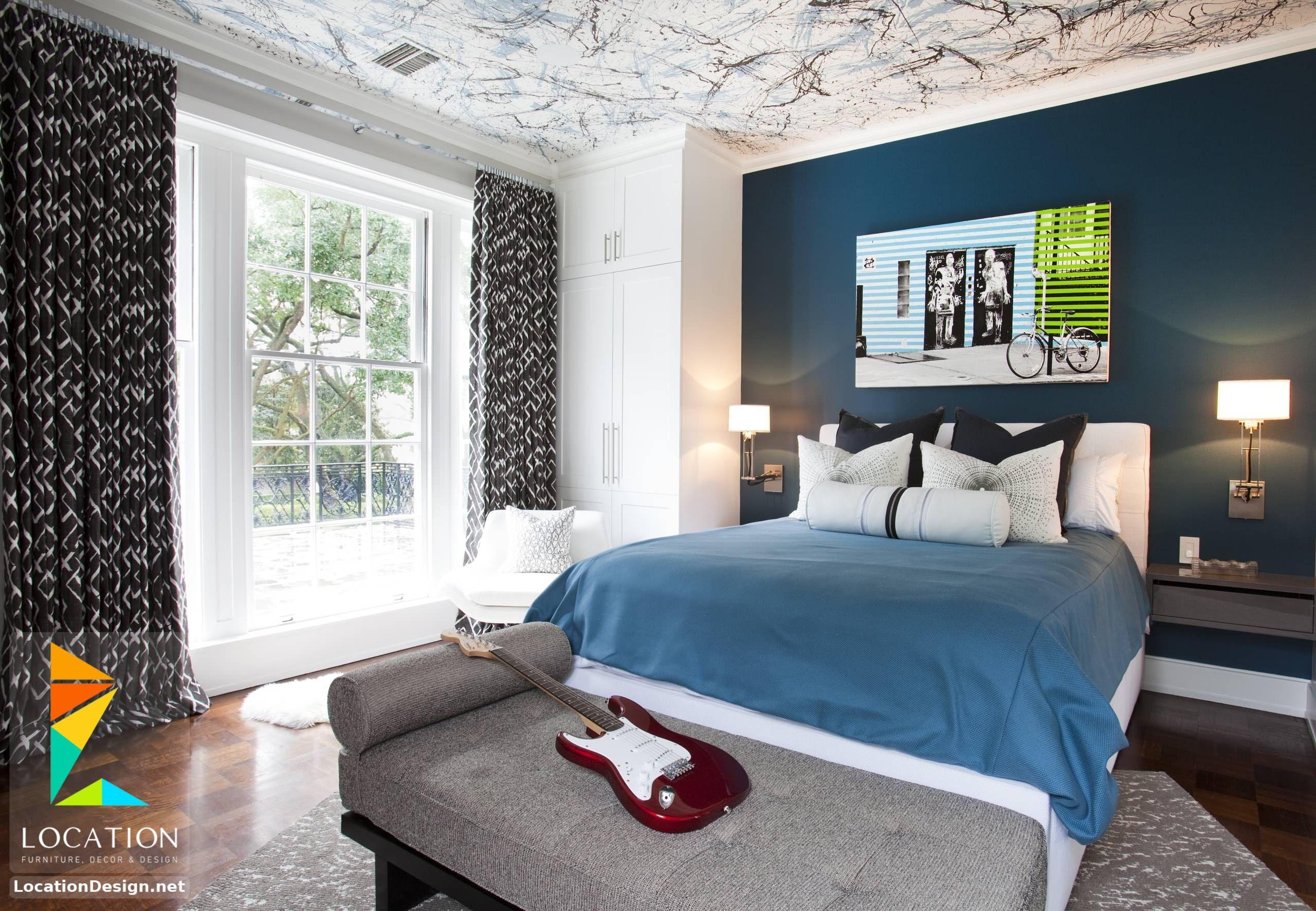 غرف نوم اولاد شباب أحدث موديلات غرف شبابي مودرن لوكشين ديزين نت Relaxing Bedroom Colors Bedroom Colors Bedroom Design