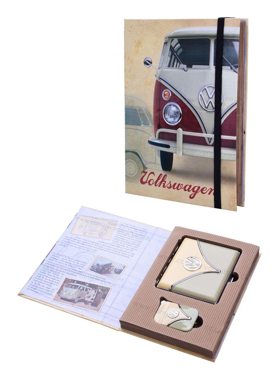 2f4f55e7 VW Campervan Lighter & Cigarette Case Olive Gift Set - Great for Volkswagen  Fans