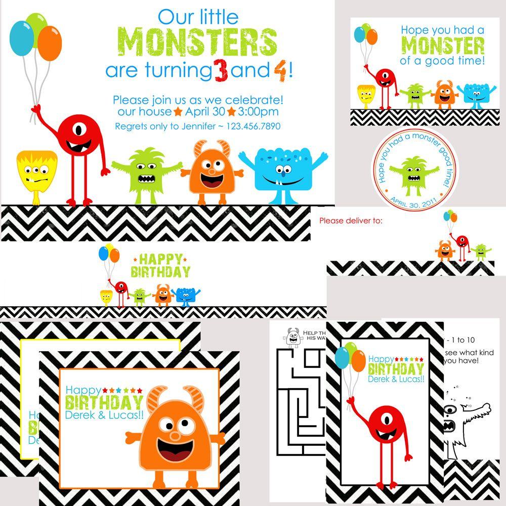 lil monster birthday invitations - Forte.euforic.co