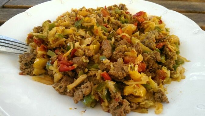 Ideal Protein All Phases Friendly Sauted Cabbage And Pepper With Ground Meat Ingredients 1 Cup Chopp Ideal Protein Recipes Ideal Protein Diet Ideal Protein