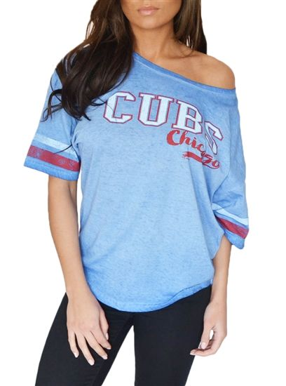 6bca406c Chicago Cubs Flowy Dolman Tee | Chicago Cubs Sporty Threads ...