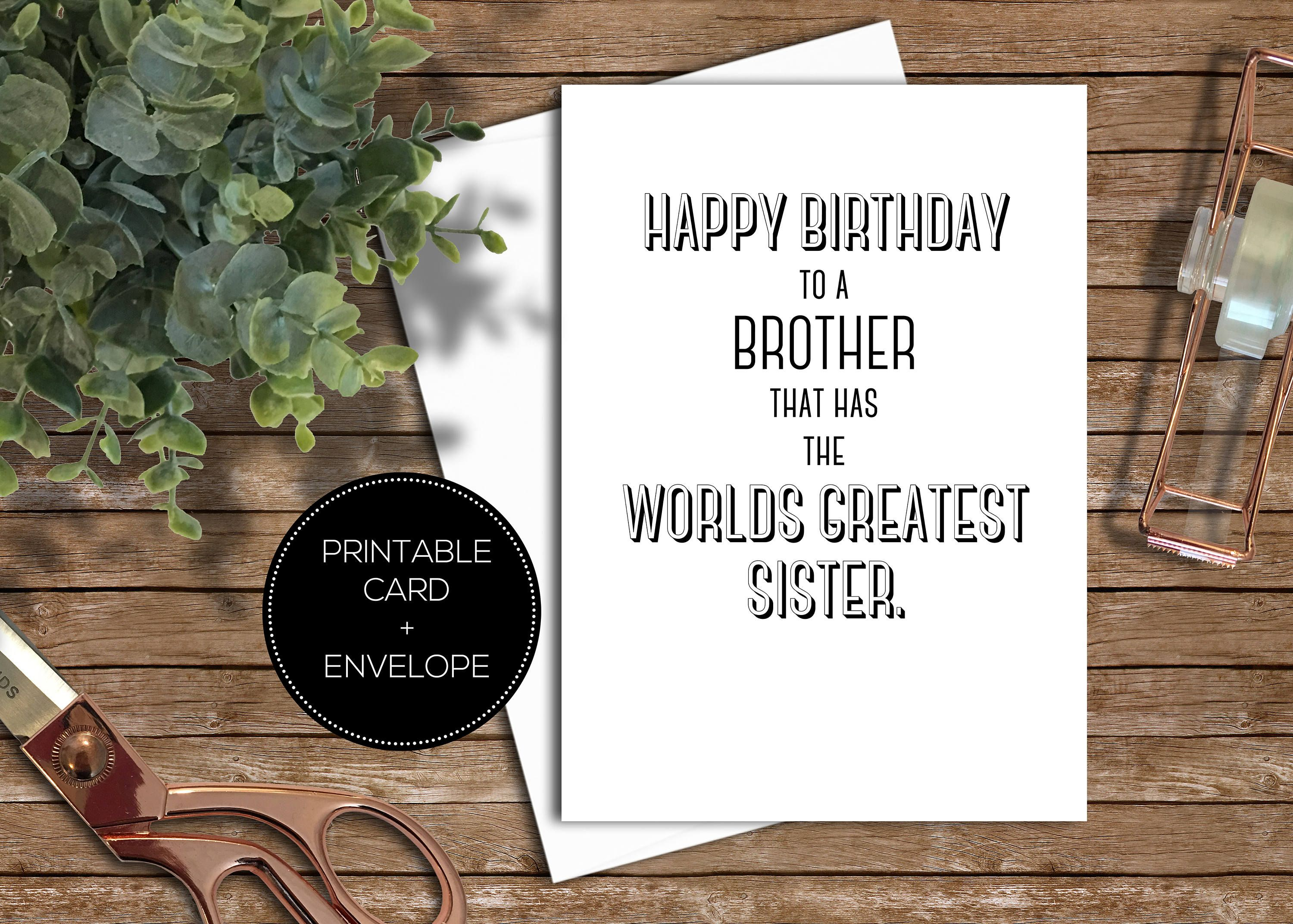 printable funny birthday card instant download digital calligraphy