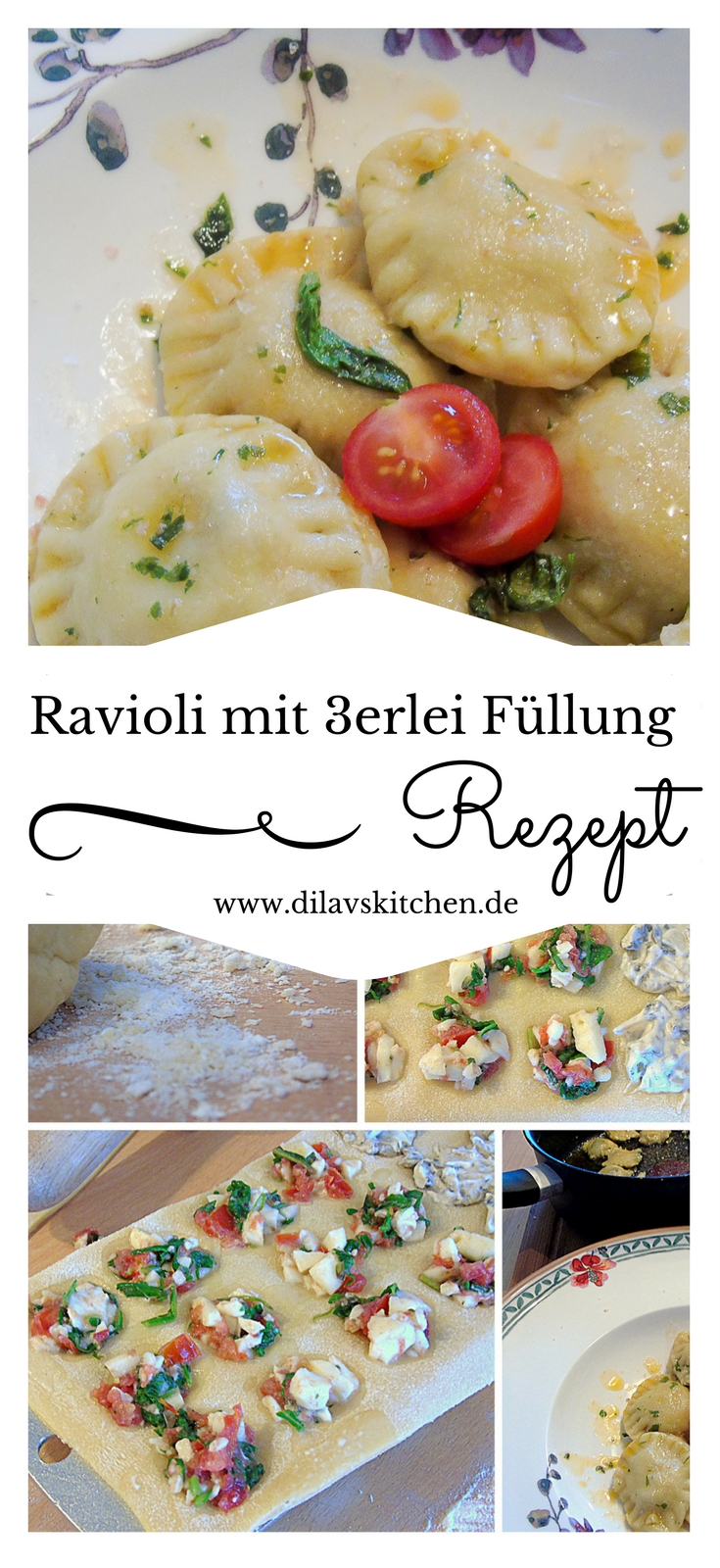 Photo of Homemade ravioli with three types of filling
