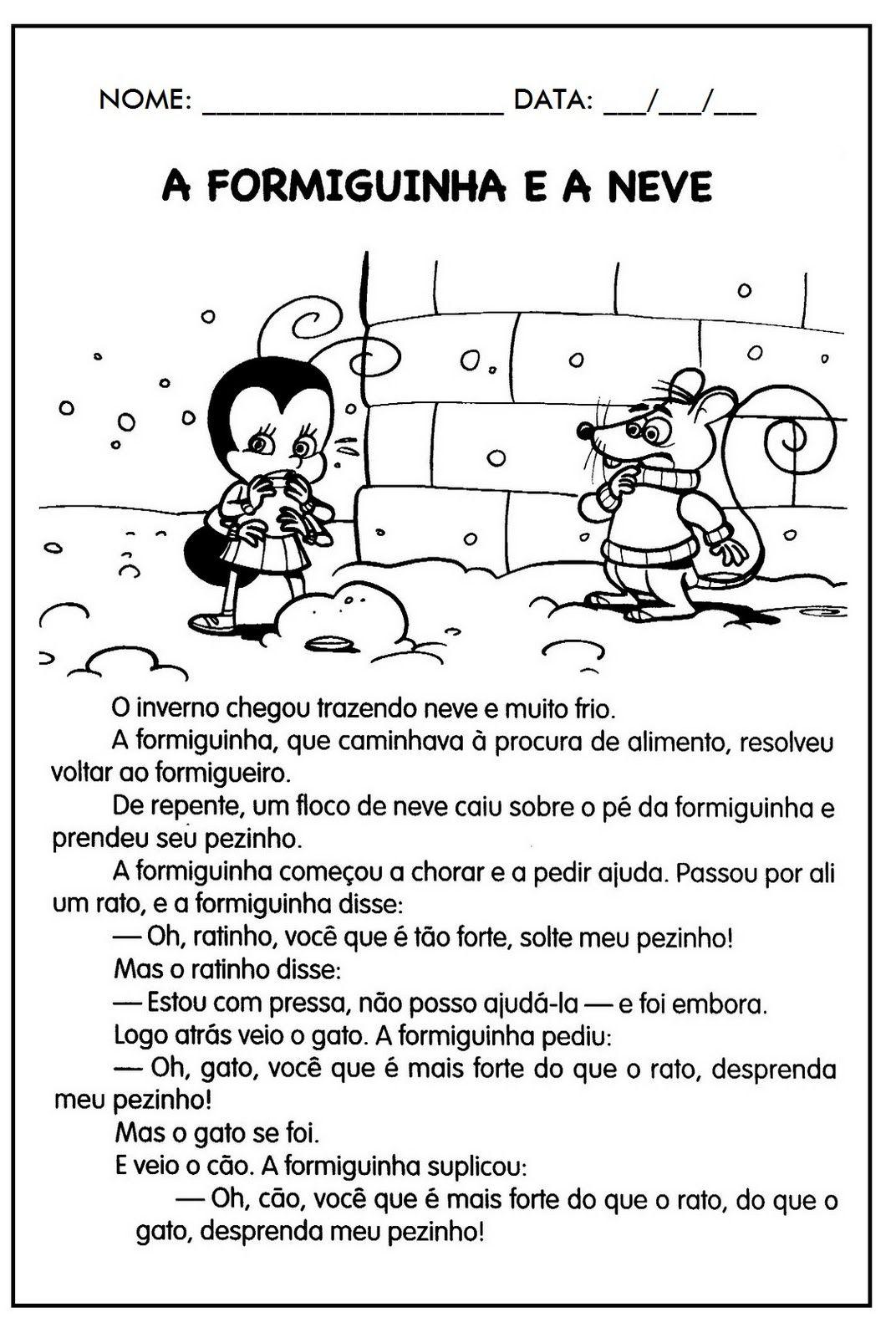 Resultado De Imagem Para Historia Completa A Formiguinha E A Neve