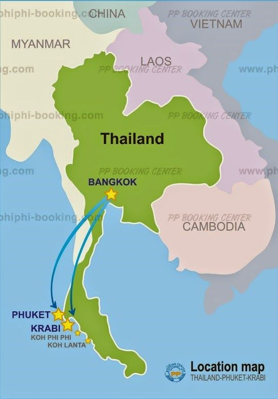 Islas De Tailandia Mapa.Ubicacion Islas Phi Phi Koh Phi Phi Map Location Isla Phi