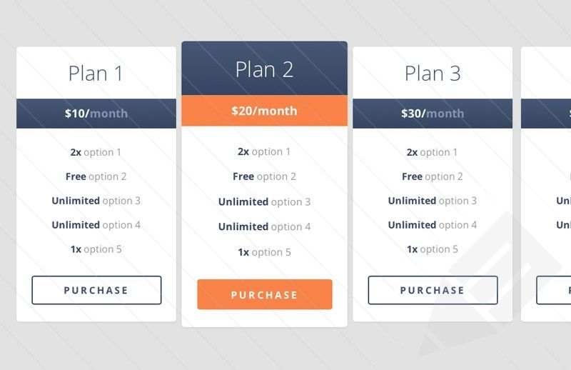 Free Pricing Table Template from i.pinimg.com