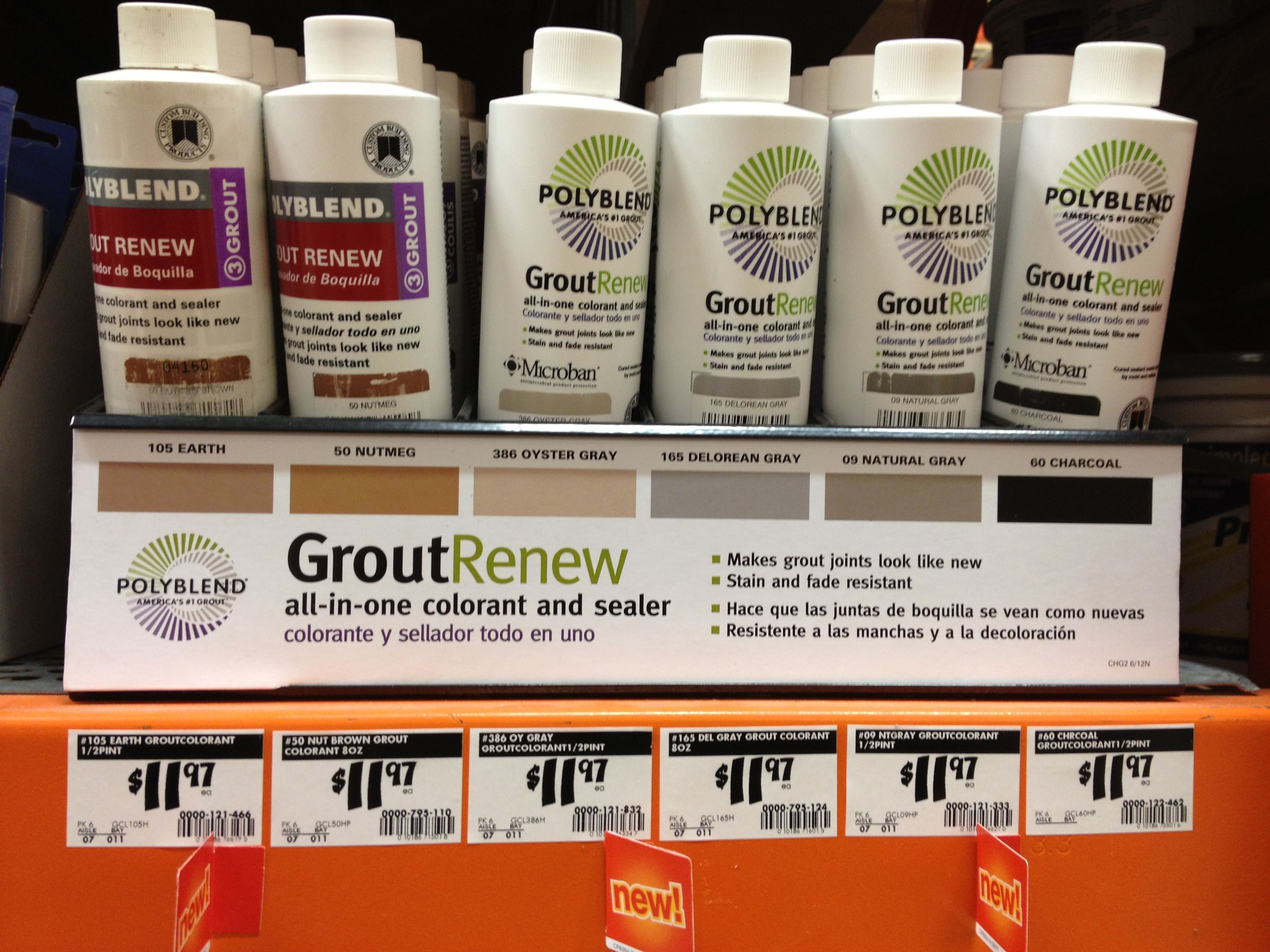 Grout stain and seal Home Depot 12 Home remodeling