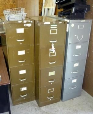Filing Cabinets. Paint and redo these to brighten them up and give new life to your work space!