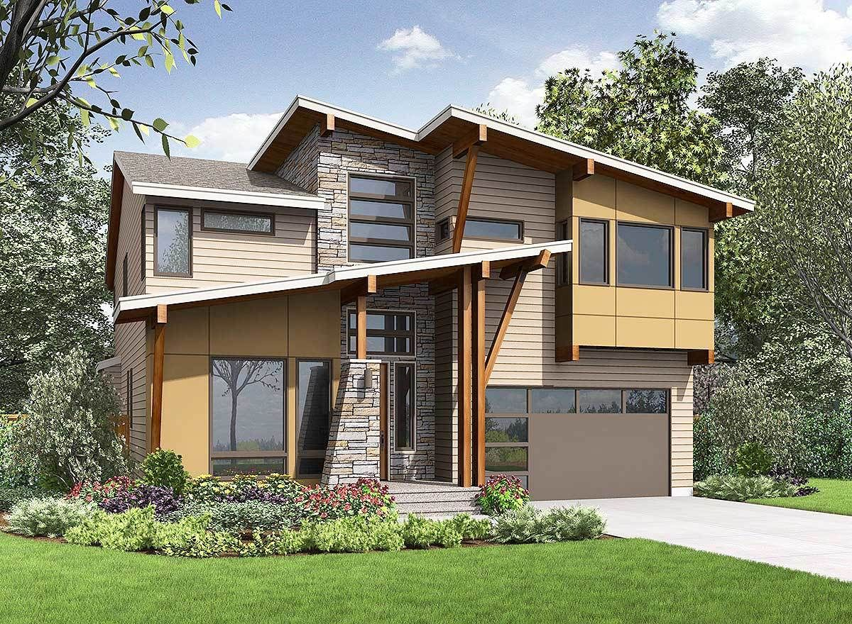 Exciting Contemporary House Plan 23631JD