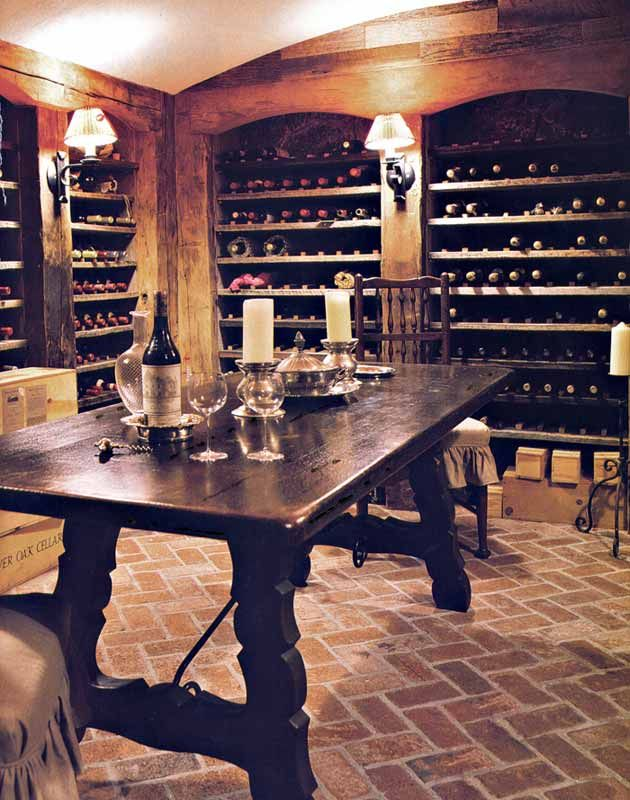 Wine Room Table - Chateau de Combourg 14th Cen France - replica by Scottsdale Art Factory & Wine Room Table - Chateau de Combourg 14th Cen France - replica by ...