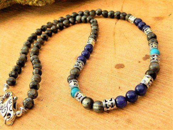 "Véritable Naturel Turquoise 80/"" long 8 mm Bead brins collier"