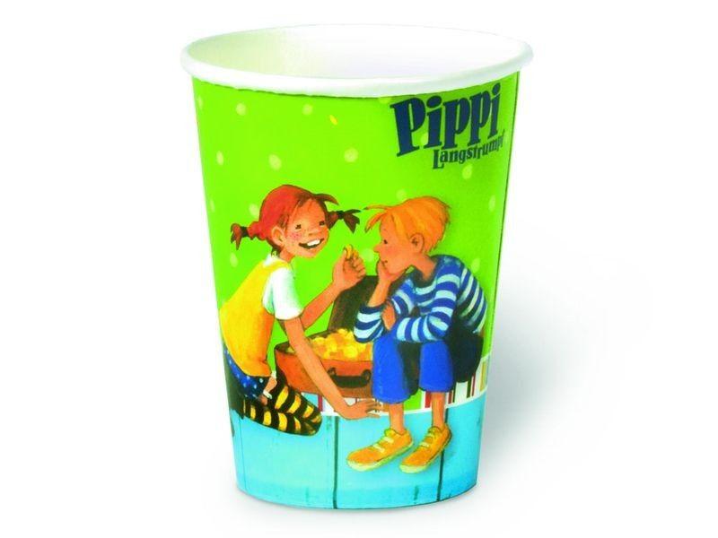 Pippi Langstrumpf Pappbecher für eine perfekte Pippi Langstrumpf Party (Pippi Longstocking Party)