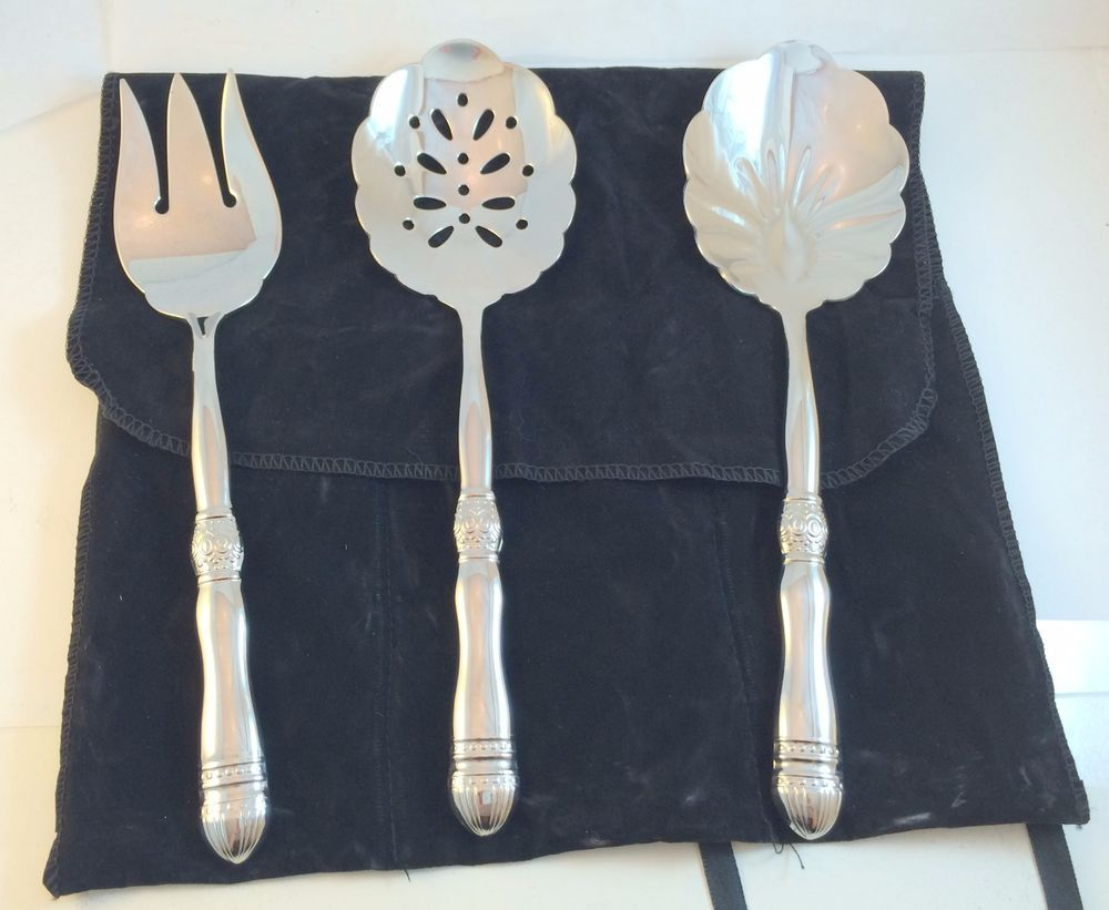 Southern Living At Home Gallery Flatware Hostess Set W Wrap Up Holder Retired Southernlivingathome