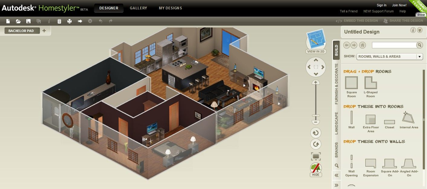 Beau Autodesk Homestyler Renders Your Blueprints In 3D · Online Home DesignFree  ...