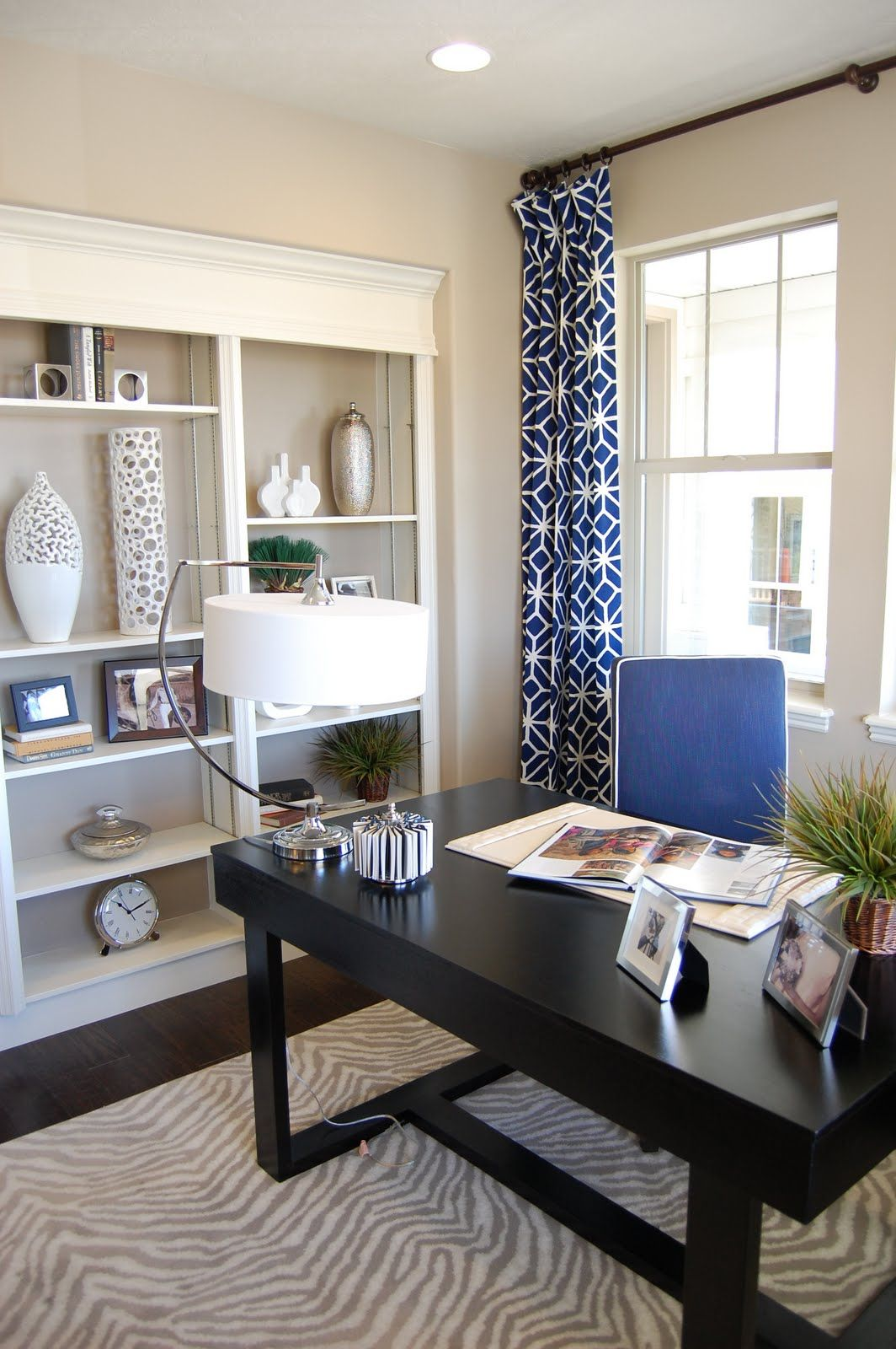 pink home office design idea. Contemporary Office Design Gal U0026 Her Handyman Parade Of Homes Trina Turk Trellis Print For  Curtains In Pink Home Office Design Idea